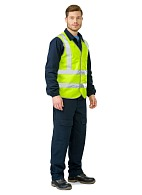 GABARIT-4 high visibility vest, fluorescent yellow