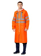 EXTRA VISION WPL waterproof PVC coat (fluorescent orange)