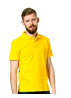 Short sleeve POLO shirt, yellow