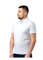 Short sleeve POLO shirt, white