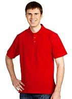 Short sleeve POLO shirt, red