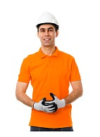 Short sleeve POLO shirt, orange