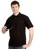 Short sleeve POLO shirt, black