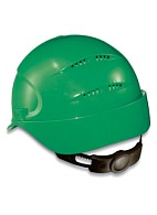 AIR WING a safety helmet with ratchet and textile suspension harness (9762) green