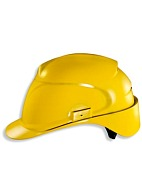 AIR WING a safety helmet with textile suspension harness (9762) yellow