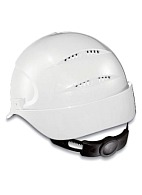 AIR WING a safety helmet with ratchet and textile suspension harness (9762) white
