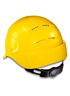 AIR WING a safety helmet with ratchet and textile suspension harness (9762) yellow