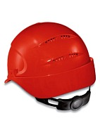 AIR WING a safety helmet with ratchet and textile suspension harness (9762) red