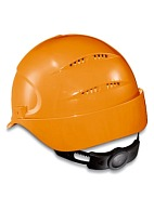 AIR WING a safety helmet with ratchet and textile suspension harness (9762) orange