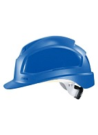 PHEOS a safety helmet with ratchet and textile suspension harness (9772) blue