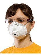 "3Mв""ў 8122 aerosol filtering half mask (respirator) with exhalation valve (FFP2, up to 12 MAC)"