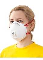 "3Mв""ў 8833 filtering half mask  (respirator)  for protection against dust and mists (with exhalation valve) (FFP3, up to 50 MAC)"