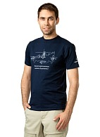 BY HELICOPTER ONLY T-shirt, blue (4009)