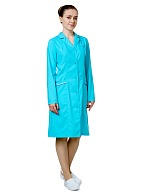 CRYSTAL ladies lab coat, turquoise