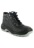 Anti-vibration high-ankle boots with steel toe cap