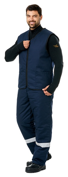 """RABOCHIY"" men's heat-insulated vest"