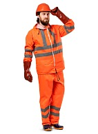 EXTRA VISION WPL PVC waterproof suit, fluorescent orange
