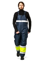 """LUMOS"" men's hi-vis heat-insulated bib overall"