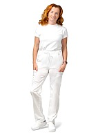 LOTOS ladies medical trousers, white