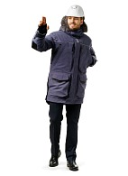 """FOX"" men's heat-insulated parka, grey"