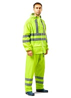 EXTRA VISION WPL PVC waterproof suit, fluorescent lemon