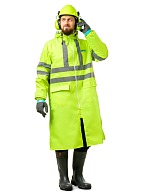EXTRA VISION WPL waterproof PVC coat, fluorescent yellow