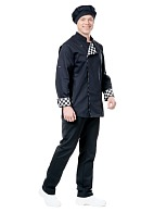 KING chef jacket, black