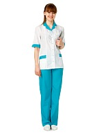 MEDIC ladies medical trousers, turquoise