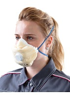 ALINA-V aerosol filtering half mask (respirator) with exhalation valve and additional protection against acid gases