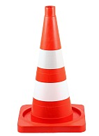 Traffic cone with a square base, 520 mm