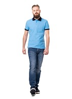 POLO shirt, blue with accents