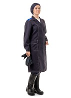 CHEMIST ladies smock for protection against acids and alkalis