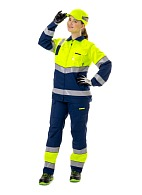 LUMOS ladies hi-vis work suit